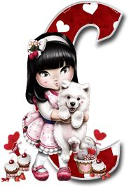 Alfabeto Tilibra Jolie cargando a un perrito. | Oh my Alfabetos!