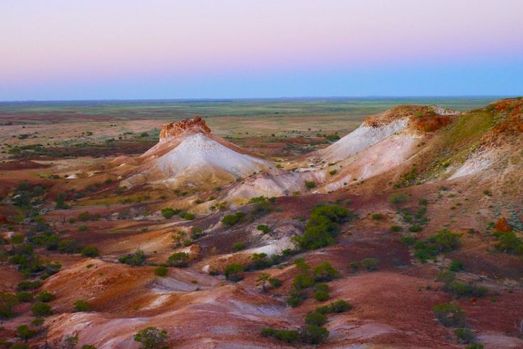 The Breakaways nach Sonnenuntergang - Coober Pedy - South Australia