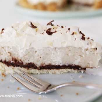 If you love coconut, then you are going to absolutely adore this Double Coconut Cream Pie. What makes it even better? Chocolate of course!