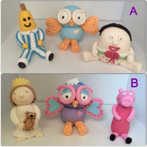 ABC Favourites Cake Toppers, Giggle And Hoot, Bananas In Pajamas, Playschool