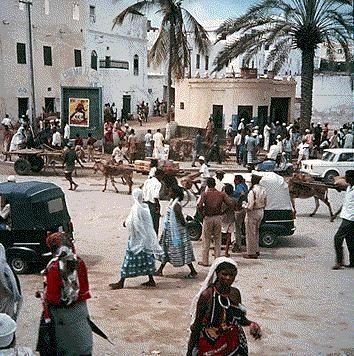 Mogadishu, Somalia during a peaceful era.