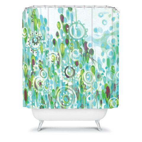 DENY Designs Home Accessories | Stephanie Corfee Zoe Blue Shower Curtain