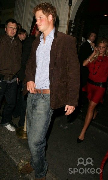 Prince Harry and Chelsy Davy leaving Mahiki nightclub in Mayfair