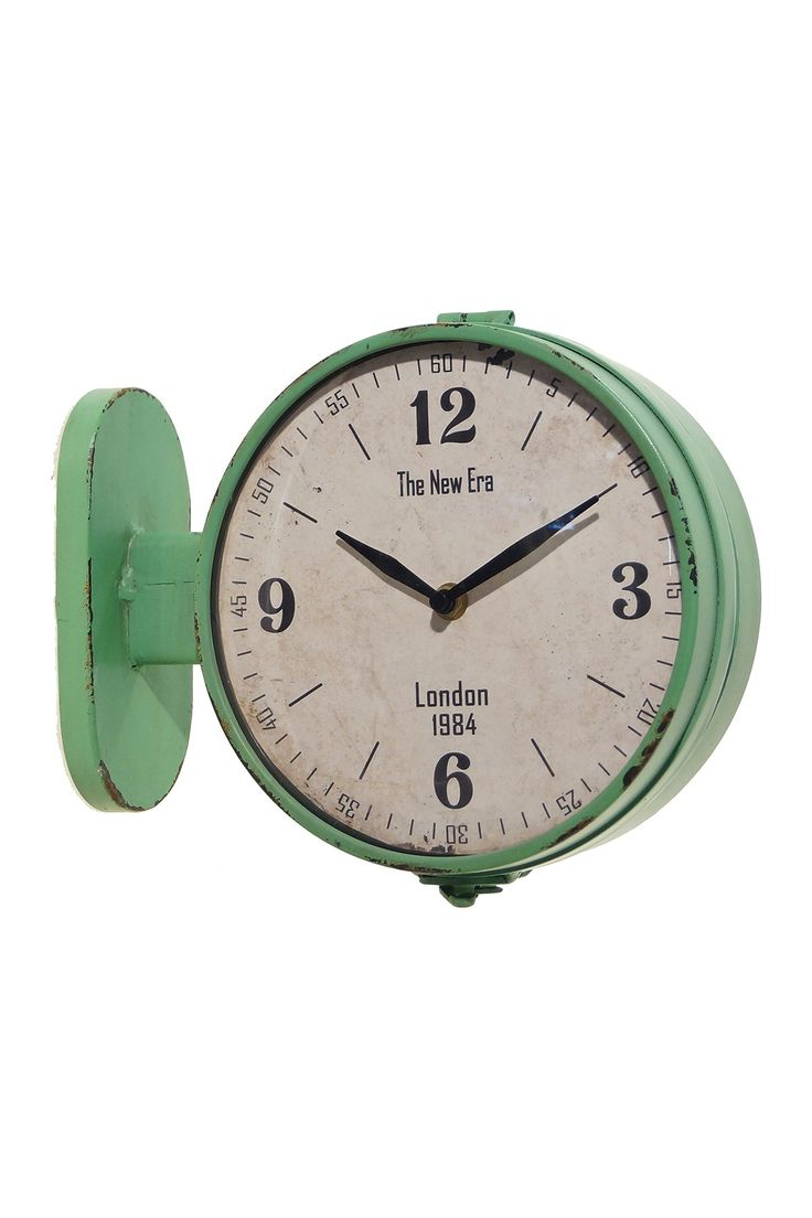 metal double sided station clock on hautelook