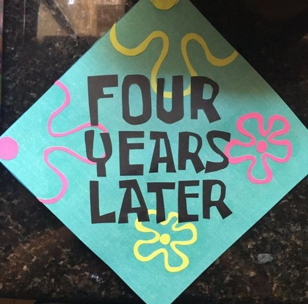 This SpongeBob reference that never gets old: | 24 Graduation Caps That Totally Fucking Nailed It