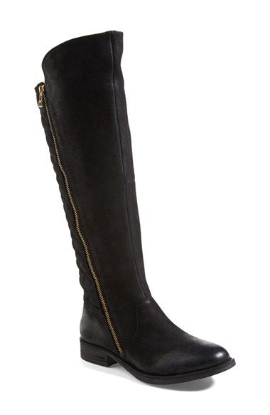 Free shipping and returns on Steve Madden 'Northsde' Quilt Back Knee High Boot…