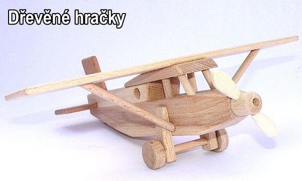 Dřevěné hračky Letadlo Pilatus hornoplošník