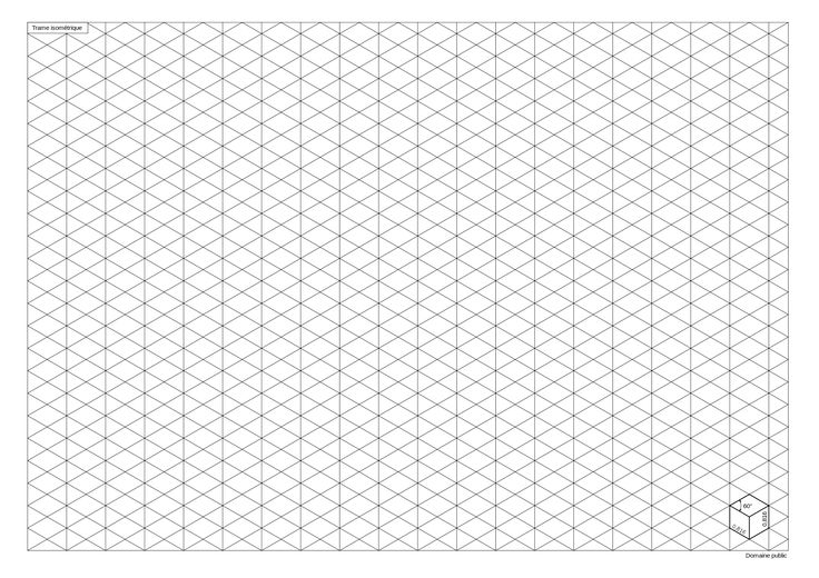 how to draw a cuboid on a isometric grid