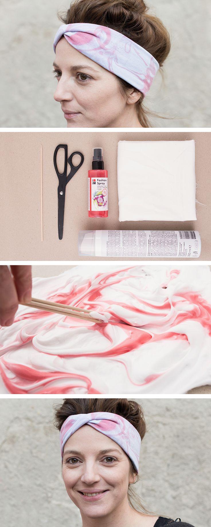 M s de 25 ideas incre bles sobre como hacer diademas en - Pintura efecto marmol ...