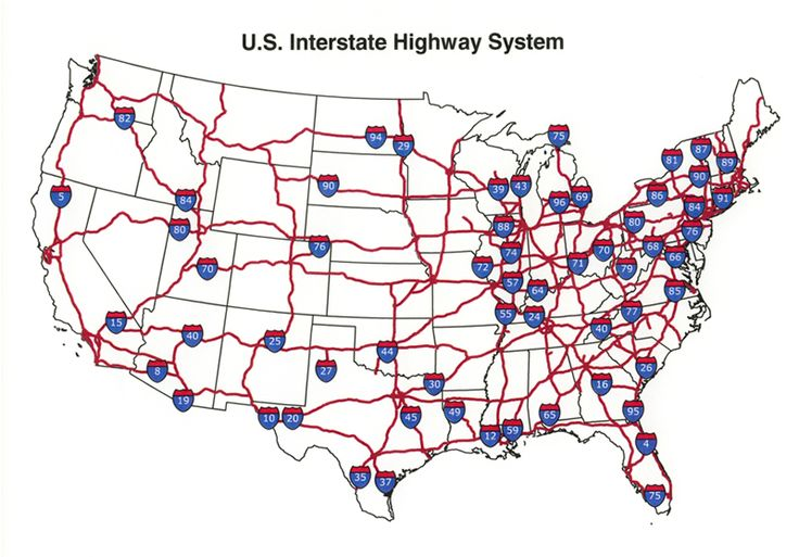 U.S. Interstate highway map