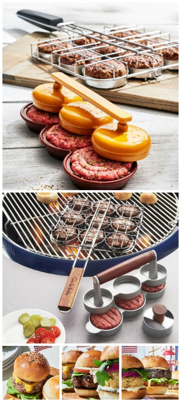This slider set makes it easy to shape and grill delicious sliders for your next barbecue. With a handy press that forms three perfect sliders at once. #affiliate
