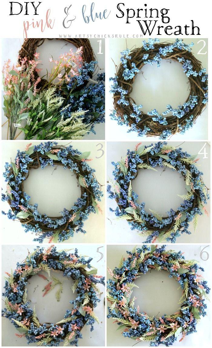 206 Best Diy Wreath Ideas Images On Pinterest Craft Diy