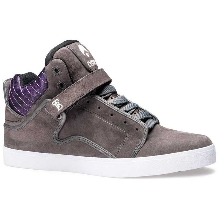 OSIRIS SHOES BINGAMAN VLC CHARCOAL PURPLE WHITE TRAINERS