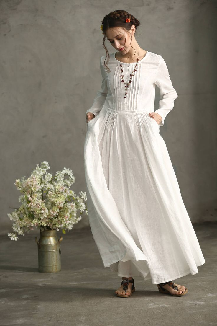Best 25+ White linen dresses ideas on Pinterest
