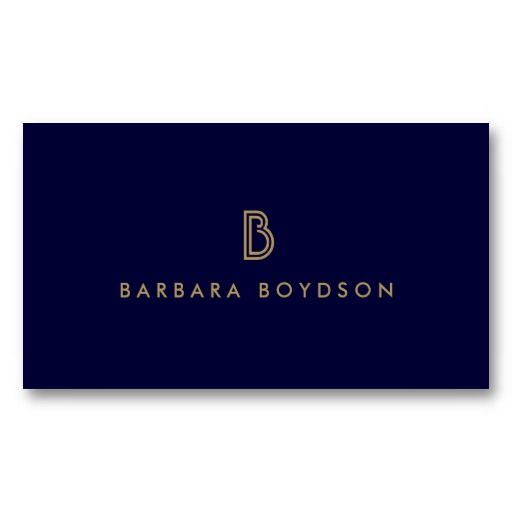 265 best business cards for networking personal use images on art deco initial logo in gold and navy customizable business card template colourmoves