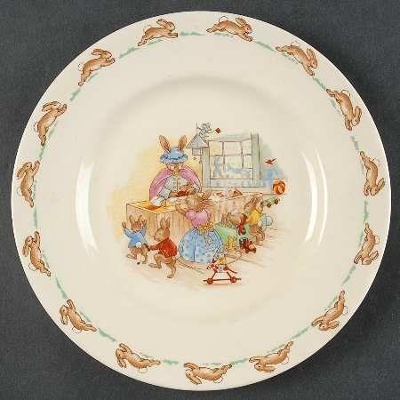 Royal Doulton Bunnykins Albion Shape Dessert Pie Plate