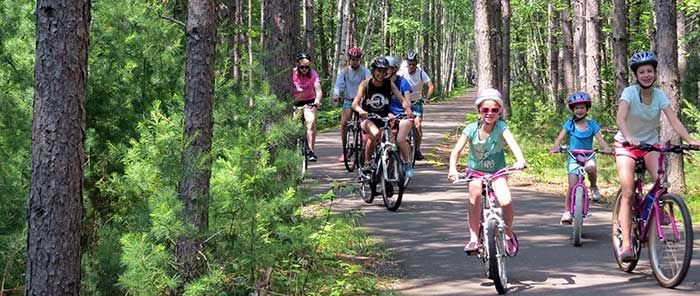 Northern Highland American Legion State Forest. Bicycle trail at Crystal Lake (photo courtesy Kimberly Krawczyk)