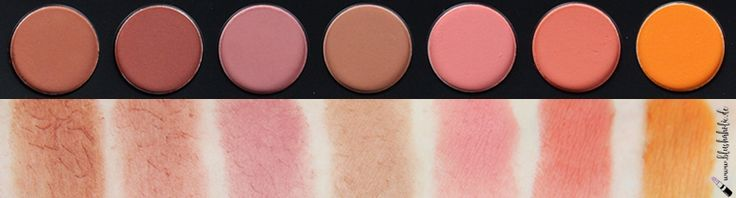  Review  Morphe Brushes 35C Multi Color Matte Palette Row 2 Swatches