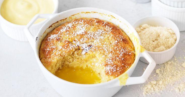 Liquid gold awaits you when you break through the zesty almond cake crust.