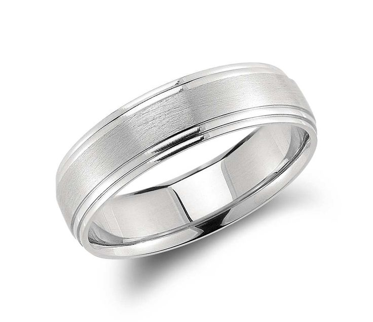 Angara Milgrain Sided Mid-Weight Comfort Fit Mens Wedding Band in Platinum nBFpElh