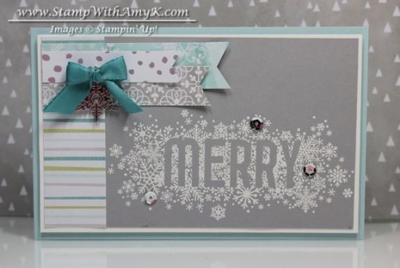 Seasonally Scattered Thanks and Merry Cards – Stampin' Up!