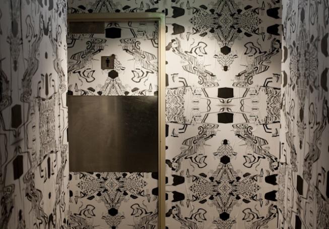 Shebeen Bar, Photography: Martina Gemmola, bathroom wallpaper