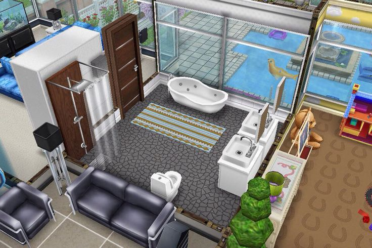 House 2 2nd Floor Bathroom Sims Freeplay House