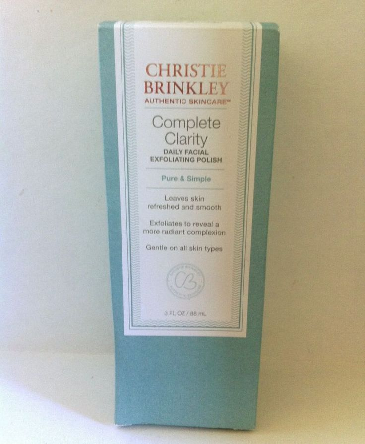 Christie Brinkley Complete Clarity Daily Facial Exfoliating Polish #ChristieBrinkley