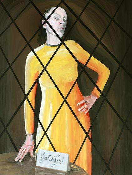Madame Goldfish, 2008, oil on canvas, 116 x 89 cm  / Pani Złota Rybka, 2008, olej na płótnie, 116 x 89 cm