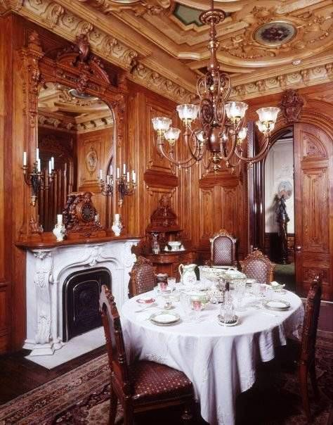 An Intimate Portrait of Home: Upstate New York, 1800-1914: TheDining room. Victoria Society of Maine, Morse-Libby Mansion, Portland, ME