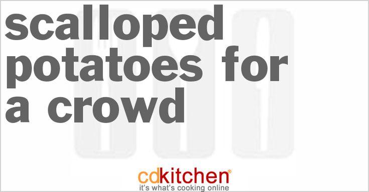 Scalloped Potatoes For A Crowd | Recipe | Recipe For Scalloped ...