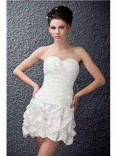 Melbourne Short/Mini Newest Sweetheart Polina s Wedding Dress With Pleats(1184)