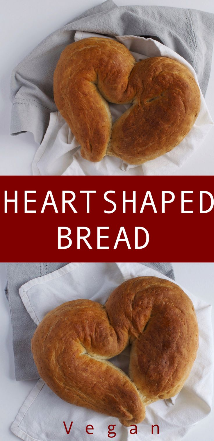 A sweet and fluffy French bread shaped into a heart, perfect for valentines day or eating all by yourself!!