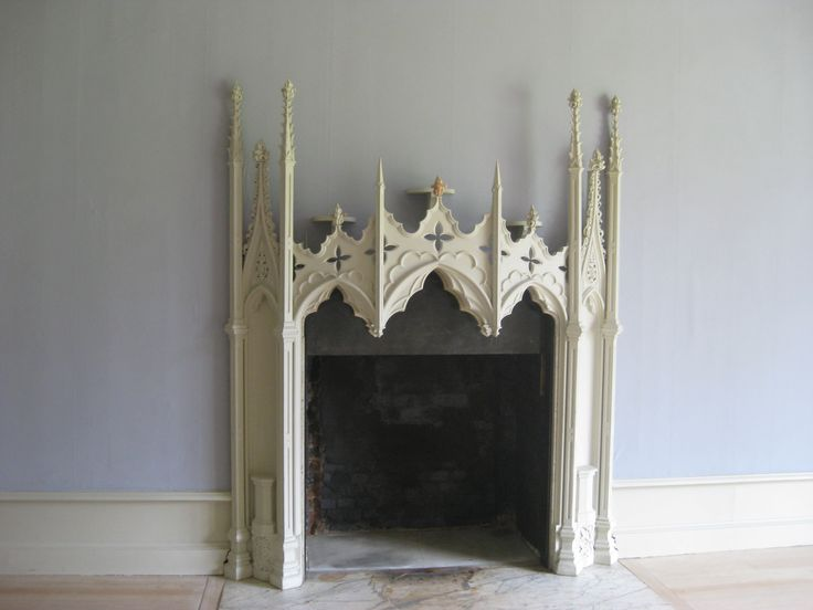 Gothic Revival Mantle From Strawberry Hill Manor. We Could Make Something  Similar Out Of Plywood Thatu0027s Hinged, To Store Flat.