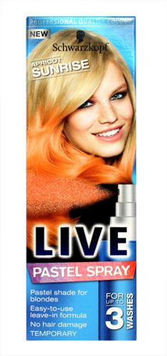 Schwarzkopf Live Pastel Spray Apricot Sunrise - Schwarzkopf Live Pastel Spray Apricot Sunrise - 125ml: Express Chemist offer fast delivery and friendly, reliable service. Buy Schwarzkopf Live Pastel Spray Apricot Sunrise - 125ml online from Express http://www.MightGet.com/may-2017-1/schwarzkopf-live-pastel-spray-apricot-sunrise-.asp