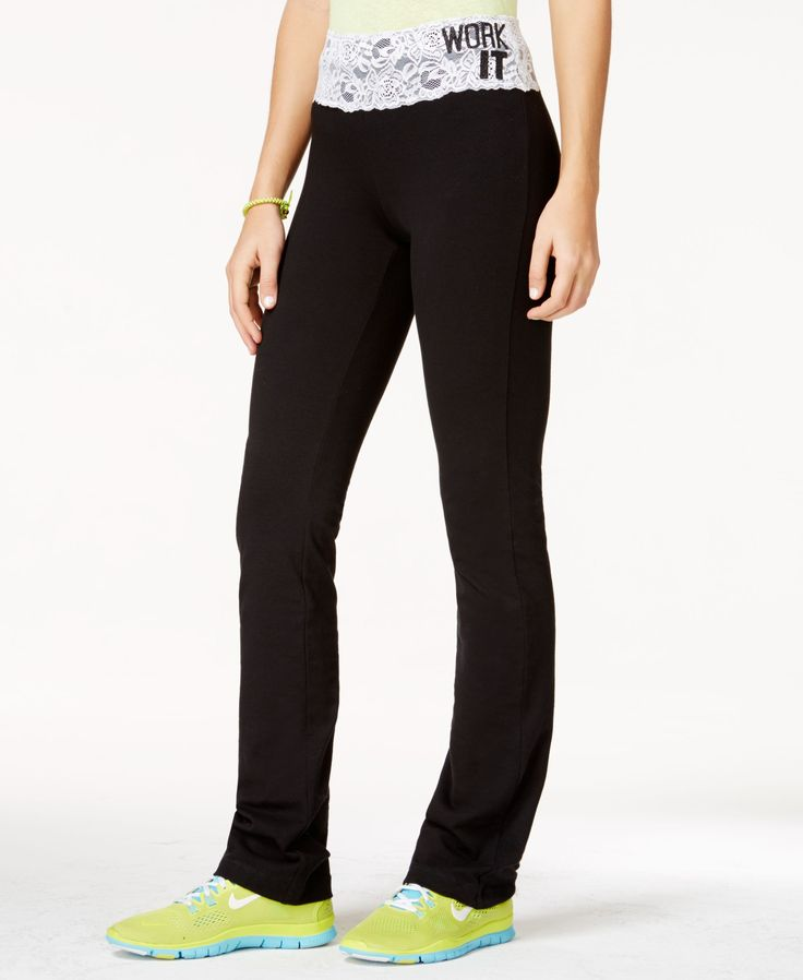 Material Girl Active Juniors' Yoga Pants, Only at Macy's