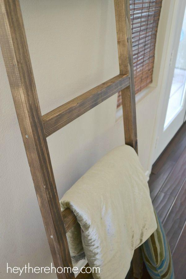 Easy diy blanket ladder tutorial
