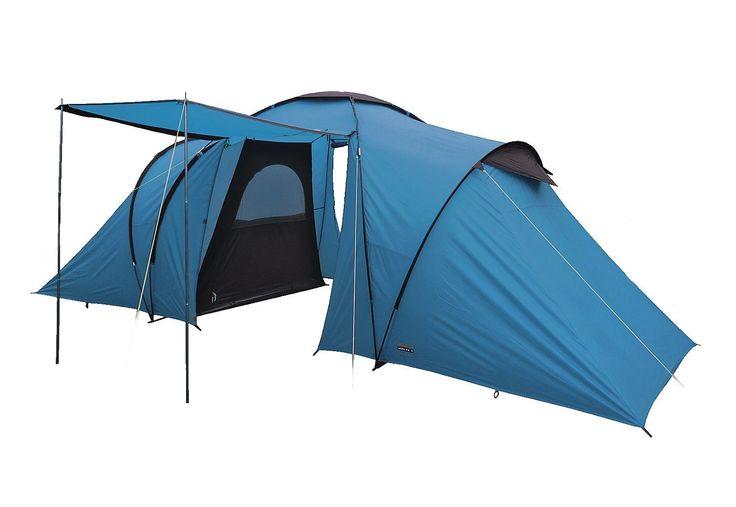 High Peak Zelt 6 Personen, »Como 6«. Ein Kuppelzelt mit gegenüberliegenden Schlafkabinen! Die Wohnkuppel mit Stehhöhe hat zwei Eingänge und eine Hochentlüftung. Es gibt zwei getrennte Schlafkabinen für das Eigenheim der Kinder oder, wenn Freunde zu Besuch kommen. Das Außenzelt mit 2.000 mm Wassersäule wird zuerst aufgebaut, dann die Innenzelte eingehängt. Die Nähte sind mittels Nahtband wasserd...