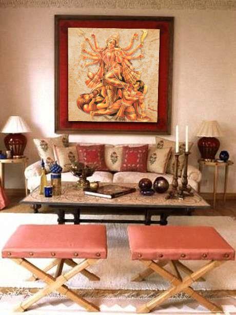 Durga Puja Home Decorating Design