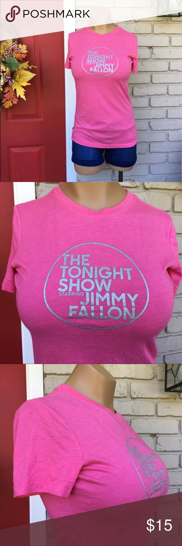 Jimmy Fallon Tonight Show pink tee New with tags. Hot pink and silver Jimmy Fallon tee from NBC studios. NBC Studios Tops
