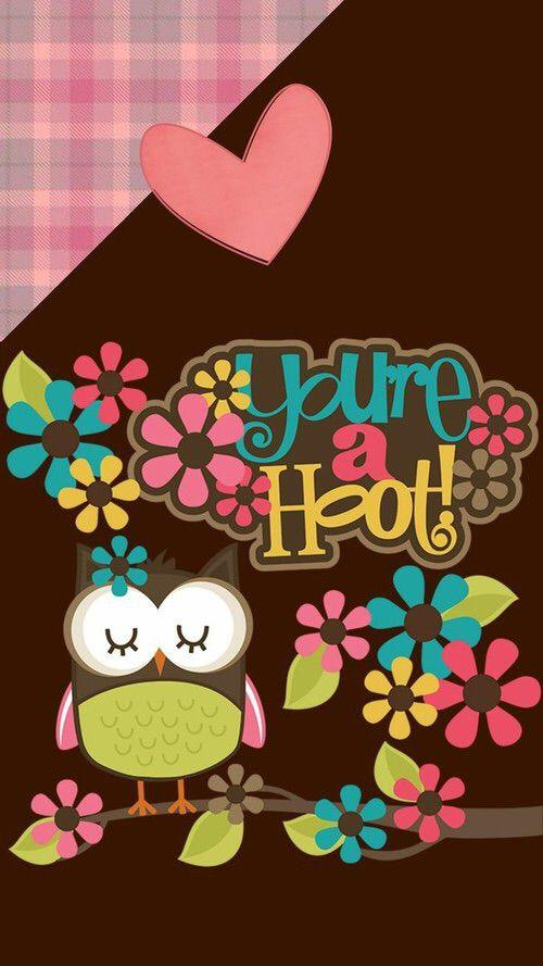 Image via We Heart It #cute #owl #wallpaper #buho #fondo
