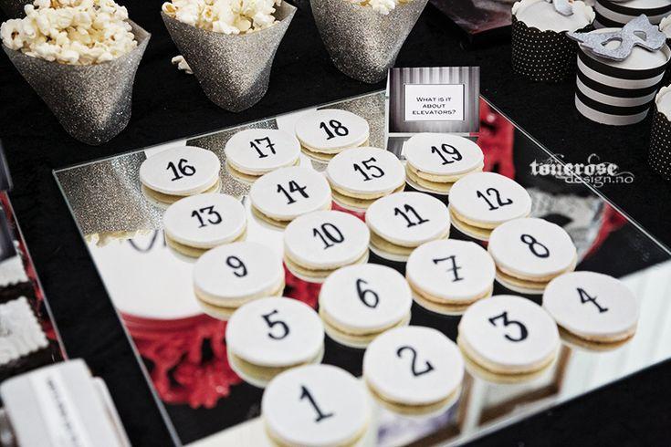 sugar cookies // 50 shades of grey dessert table