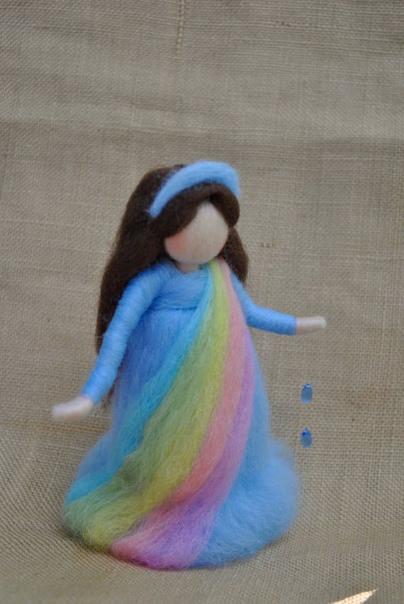 Wool Doll Waldorf inspired standing doll needle felted :