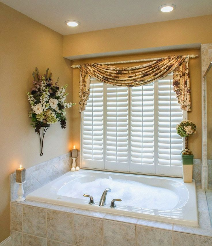 49 best Bathroom curtains images on Pinterest Curtain ideas - bathroom window curtain ideas