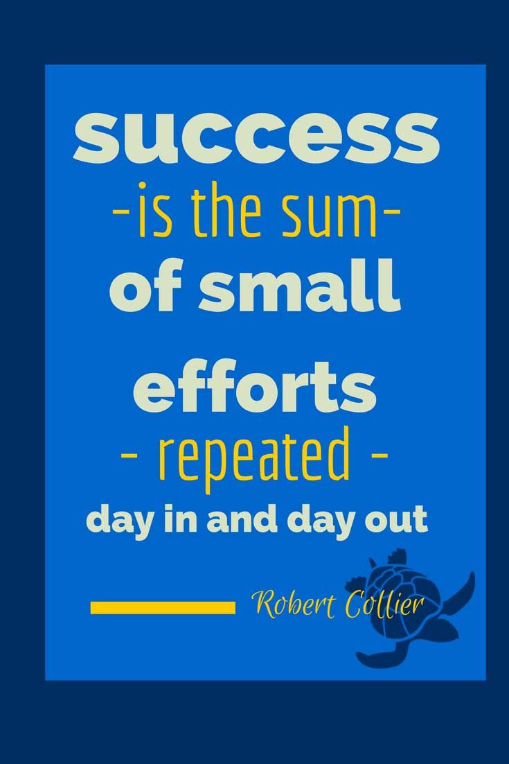 """Success is the sum of small efforts repeated day in and out."" – Robert Collier #SuccessQuote #motivational check out our other quotes on http://www.pinterest.com/wfpblogs/animated-quotes/"