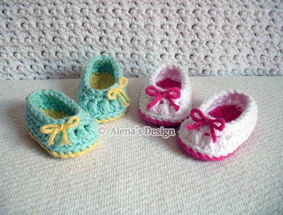Crochet Pattern 136  Crochet Shoes Pattern for 18 by AlenasDesign