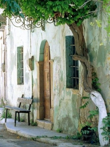 House in the village Vessa on Chios, Greece