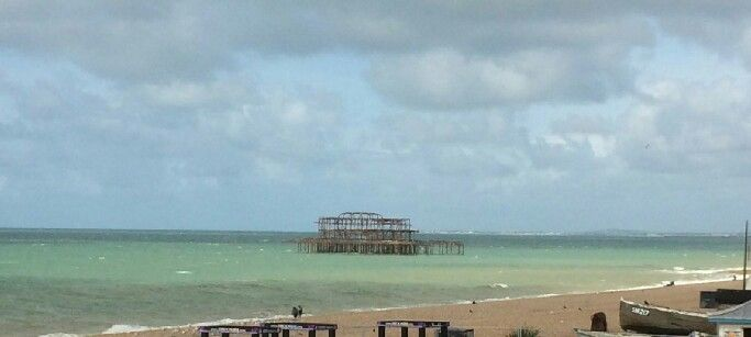 The ruins of the West Pier, Brighton