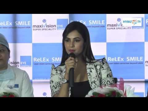 Maxivision Super Speciality Eye Hospitals Introduces ReLEx SMILE Technology. SMILE technology is flap-free, pain-free, blade-free and minimally-invasive surgery. SMILE is a 3rd generation of laser vision correction after PRK and LASIK. Actress Sonal Chauhan was present on the occasion.