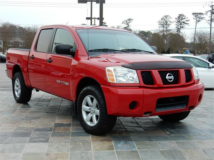 2007 NISSAN TITAN XE  57456 miles, Red exterior color with a Gray interior, 5.6L V8 FI DOHC 32V Engine, Automatic Transmission